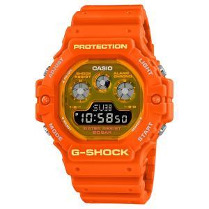 G-SHOCK ジーショック DW-5900TS-4JF 透明蛍光文字板 オレンジ ウレタンバンド 20気圧防水 メンズ 腕時計 CASIO カシオ|tokei-akashiya
