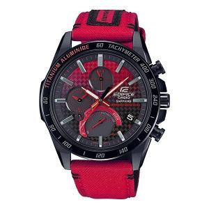 EDIFICE エディフィス EQB-1000HRS-1AJR ホンダ レーシング リミテッドエディション スマートフォンリンク タフソーラー 腕時計 クロスバンド|tokei-akashiya