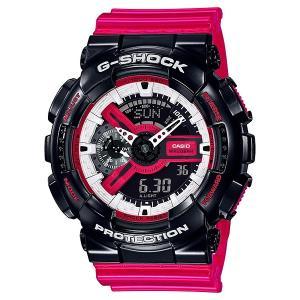 G-SHOCK ジーショック GA-110RB-1AJF レッド×ブラック×ホワイト 電池式アナログ×デジタル表示 腕時計|tokei-akashiya