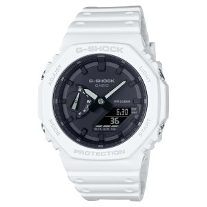 G-SHOCK ジーショック GA-2100-7AJF オクタゴン 八角形 カーボンコアガード構造 ホワイト×ブラック メンズ 腕時計 CASIO カシオ|tokei-akashiya