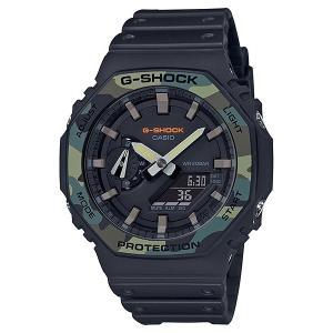 G-SHOCK ジーショック GA-2100SU-1AJF カーボンコアガード構造 Utility Color カモフラージュ柄ベゼル ブラック 腕時計 CASIO カシオ|tokei-akashiya