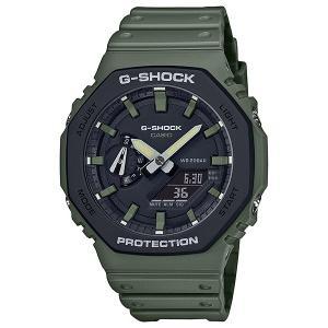 G-SHOCK ジーショック GA-2110SU-3AJF カーボンコアガード構造 ブラック×ミリタリーグリーン 腕時計 CASIO カシオ tokei-akashiya