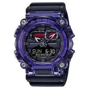 G-SHOCK ジーショック GA-900TS-6AJF 半透明ベゼル ナイロンバンド パープル×ブラック×グレー 腕時計 CASIO カシオ|tokei-akashiya