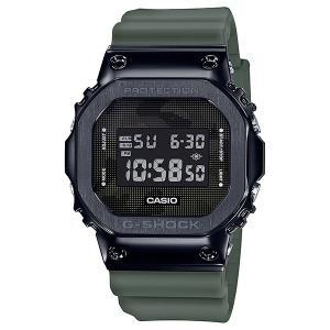 G-SHOCK ジーショック GM-5600B-3JF スクエアデザイン ベゼルカバーステンレス素材 ブラック×グリーン 反転液晶 腕時計 CASIO カシオ tokei-akashiya