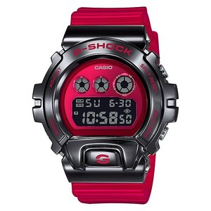 G-SHOCK ジーショック GM-6900B-4JF 三つ目モデル メタルベゼル ブラック×半透明レッド 反転液晶 腕時計 CASIO カシオ tokei-akashiya