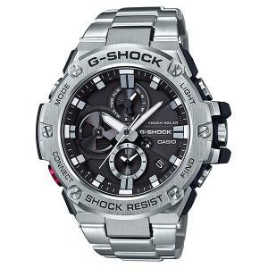 G-SHOCK ジーショック GST-B100D-1AJF スマートフォンリンク機能搭載 Bluetooth対応 G-STEEL メタルバンド アナログ表示 クロノグラフ 腕時計 CASIO カシオ|tokei-akashiya