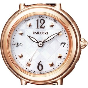 wicca ウィッカ KL0-961-11 ソーラーテック電波時計 ブレスライン HAPPY DIARY レディース腕時計 CITIZEN シチズン|tokei-akashiya