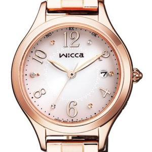 wicca ウィッカ KS1-261-91 ソーラーテック電波時計 HAPPY DIARY レディース 腕時計 ダイヤ入り CITIZEN シチズン|tokei-akashiya
