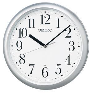 SEIKO セイコークロック KX218S 電波掛け時計 スタンダード 電池付き|tokei-akashiya