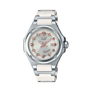 BABY-G ベビージー MSG-W300C-7AJF ジーミズ G-MS 電波ソーラー シルバー×ホワイト 女性用 腕時計 CASIO カシオ|tokei-akashiya