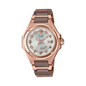 BABY-G ベビージー MSG-W300CG-5AJF ジーミズ G-MS 電波ソーラー ピンクゴールド×シルバー 女性用 腕時計 CASIO カシオ|tokei-akashiya