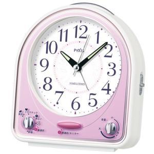 SEIKO セイコークロック NR435P 目覚まし時計 ピンク メロディアラーム 31曲 電池付き|tokei-akashiya