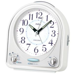 SEIKO セイコークロック NR435W 目覚まし時計 メロディアラーム 31曲 電池付き|tokei-akashiya