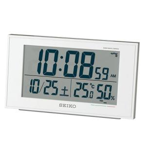 SEIKO セイコークロック SQ758W デジタル電波目覚まし時計 温度計 湿度計 快適度表示 電池付き|tokei-akashiya