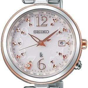 SEIKO セイコー LUKIA ルキア SSQV048 レディダイヤシリーズ ソーラー電波時計 ワールドタイム コンフォテックスチタン|tokei-akashiya