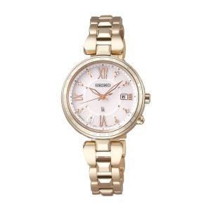 SEIKO セイコー LUKIA ルキア SSQV058 レディゴールド Lady Gold ソーラー電波時計 ワールドタイム チタン 女性用腕時計|tokei-akashiya