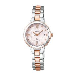 SEIKO セイコー LUKIA ルキア SSVW146 ソーラー電波時計 ピンクゴールド×シルバー 女性用腕時計 コンフォテックス tokei-akashiya
