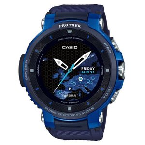 CASIO カシオ PRO TREK Smart プロトレック スマートウオッチ WSD-F30-BU ブルー 専用充電ケーブル付き ACアダプター付き|tokei-akashiya