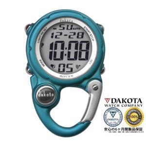 DAKOTA ダコタ デジクリップ クリップウオッチ 3095-4 アクア色 正規品 アウトドア用時計|tokei10