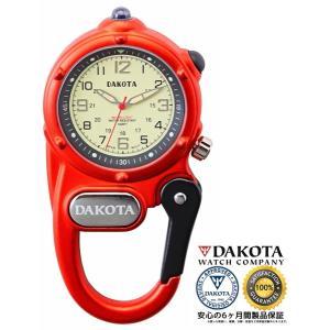 DAKOTA ダコタ ミニクリップ マイクロライト 3805-1 オレンジ 正規品 アウトドア用時計|tokei10