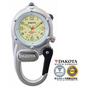 DAKOTA ダコタ ミニクリップ マイクロライト 3807-9 シルバー 正規品 アウトドア用時計|tokei10