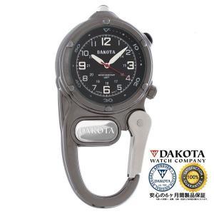 DAKOTA ダコタ ミニクリップ マイクロライト 3810-6 ガンメタル 正規品 アウトドア用時計|tokei10
