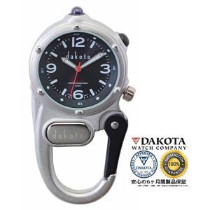 DAKOTA ダコタ ミニクリップ マイクロライト 3860-1 サンレイブラック 正規品 アウトドア用時計|tokei10
