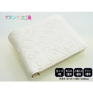 フランク三浦 財布 FMS04-W 二つ折り財布 ウォレット ギフトラッピング無料|tokei10