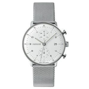 ユンハンス マックスビル JUNGHANS max bill 027 4003 44M chronoscope  metal band 正規品 腕時計 tokeikan