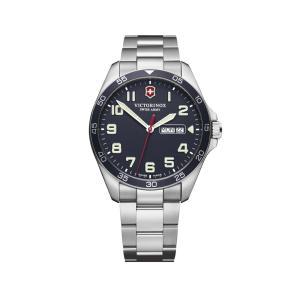【今ならステンレス製マイストロープレゼント】 ビクトリノックス VICTORINOX 241851 フィールドフォース ネイビー 正規品 腕時計|tokeikan