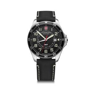 【今ならステンレス製マイストロープレゼント】 ビクトリノックス VICTORINOX 241895 フィールドフォースGMT ブラック 正規品 腕時計|tokeikan