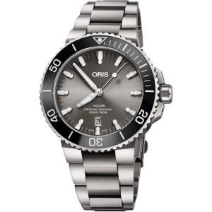 オリス ORIS 01 733 7730 7153-07 8 24 15PEB アクイス チタニウム デイト 正規品 腕時計|tokeikan