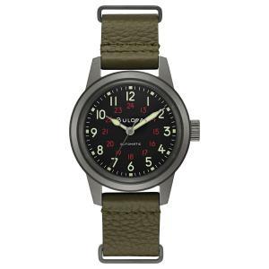 ブローバ BULOVA 98A255 ミリタリー オートマチック 正規品 腕時計 tokeikan
