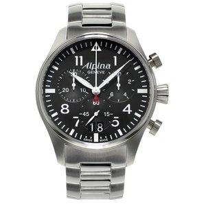 アルピナ Alpina AL-372B4S6B スタータイマー パイロット ビッグデイト クロノグラフ 正規品 腕時計|tokeikan