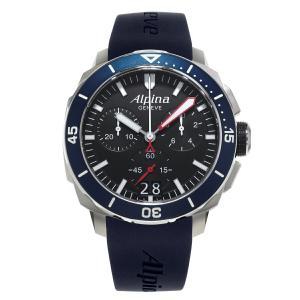 アルピナ Alpina AL-372LBN4V6 シーストロング ダイバー300 ビッグデイト クロノグラフ 正規品 腕時計|tokeikan