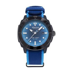 アルピナ Alpina AL-525LNSB4VG6 シーストロング ダイバー ジャイル 替えベルト付属 世界限定1883本 正規品 腕時計|tokeikan