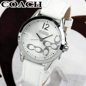 261aef3fba COACH コーチ NEW CLASSIC SIGNATURE ニュークラシックシグネチャー レディース 腕時計 白 ホワイト 銀 シルバー 革ベルト  ...