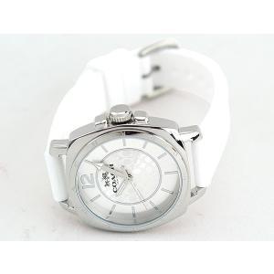 7226dd8085cf ... COACH コーチ ボーイフレンドミニ シグネチャー アナログ レディース 腕時計 白 ホワイト 銀 シルバー シリコン ラバー  14502093; 全6枚