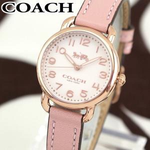 COACH コーチ 14502750 海外モデル DELANCEY デランシー アナログ レディース 腕時計 ウォッチ ピンク 革バンド レザー|tokeiten