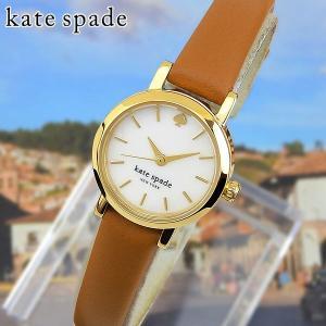 KateSpade ケイトスペード Tiny Metro タイニーメトロ アナログ レディース 腕時計 白 ホワイト 茶 ブラウン 革ベルト レザー 1YRU0867 海外モデル|tokeiten
