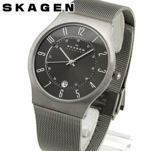 SKAGEN スカーゲン 233XLTTM グレーメンズ 腕時計 チタン ステンレス メンズ 腕時計|tokeiten