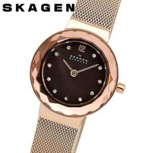 SKAGEN スカーゲン 456SRR1 アナログ レディース 腕時計 海外モデル 黒 ブラック ピンクゴールド  ローズゴールド メタル カジュアル ビジネス スーツ|tokeiten