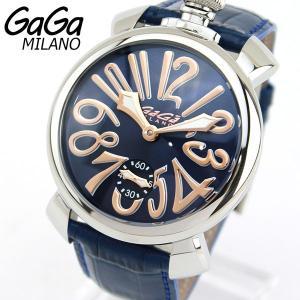 GAGA MILANO ガガミラノメンズ 腕時計 手巻きスケルトン ラグジュアリーMANUALE マヌアーレ 48MM 海外直輸入モデル|tokeiten