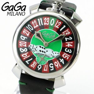 GAGAMILANO ガガミラノ 5010.LASVEGAS 海外モデル メンズ 腕時計 メカニカル 手巻き アナログ 黒 ブラック 赤 レッド サイコロ|tokeiten