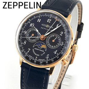 Zeppelin ツェッペリン 7039-3 Hindenburg ヒンデンブルク メンズ 男性用 腕時計 ウォッチ 青 ネイビー 金 ローズゴールド|tokeiten