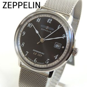 Zeppelin ツェッペリン 7046M2 ヒンデンブルグ メンズ 腕時計 新品 時計 海外直輸入モデル クオーツ ブラック 黒 シルバー|tokeiten