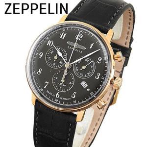 Zeppelin ツェッペリン 7084-2 海外モデル Hindenburg ヒンデンブルグ アナログ メンズ 腕時計 黒 ブラック 金 ピンクゴールド 革バンド レザー|tokeiten