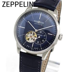 Zeppelin ツェッペリン 機械式 メカニカル 自動巻き 7364-3 海外モデル アナログ メンズ 腕時計 ウォッチ 青 ネイビー 革バンド レザー|tokeiten