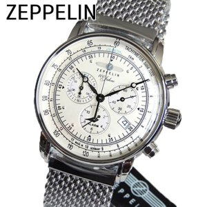 Zeppelin ツェッペリン 7680M-1 7680M1 SpecialEdition100YearsZeppelin 100周年記念モデル メンズ 腕時計 新品 海外直輸入モデル クロノグラフ 文字盤ホワイト|tokeiten