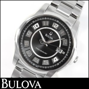 Bulova ブローバ 腕時計 メンズ ウォッチ96B129 シルバー ブラック 並行輸入品|tokeiten